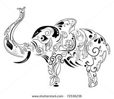 Elephant outline drawing Free vector for free download about (11) Free vector in ai, eps, cdr, svg format .