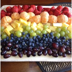 We love fruit, this is a cute idea for the fruit tray! <3