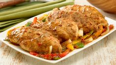 Italian Chicken with Peppers & Onions Via Our Gourmet Recipes: