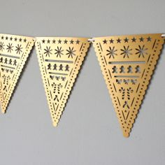 Laser Cut Detailed Christmas Bunting - £12