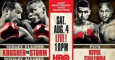 Watch Sergey Kovalev vs Eleider Alvarez Live Streaming free on HBO Boxing online  at Atlantic City, New Jersey, U.S.  Kovalev vs Alvarez Boxing fight will be kick of Saturday 4 August 2018, Time  10pm ET.  Welcome to watch Sergey Kovalev vs Eleider Alvarez Live Stream online on your pc/laptop, mac, ipad. Do not wait to access this HD link, when the Sergey Kovalev vs Eleider Alvarez is mostly over and you will get live stream, scores, results and highlights.
