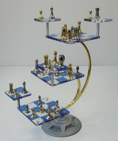 1000 images about chess set on pinterest 3d chess chess sets and chess - Star trek tridimensional chess ...