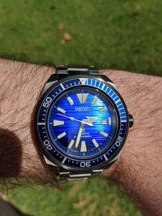 [Seiko] Save the Ocean Samurai Big Watches, Seiko Watches, Sport Watches, Cool Watches, Watches For Men, Seiko Samurai, Automatic Watch, Digital Watch, Chronograph