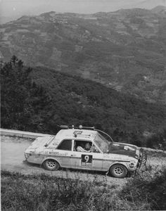 Lotus Cortina MKII in action in South France during the 1970 London to Mexico World Cup Rally