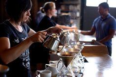 ポートランドのコーヒーショップ