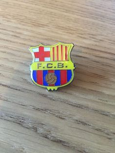 New FC Barcelona Football Pin Badge