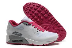 1ae2d231659 Femme Nike Air Max 90 Hyperfuse Running Blanc Rouge Pas Cher Basketball  Rules