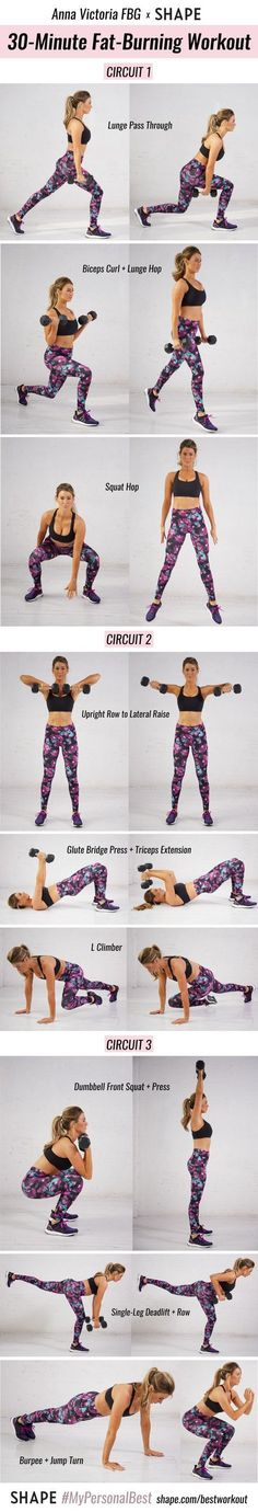 This 30-minute total-body circuit is designed to help you reach your #PersonalBest. - Shape.com