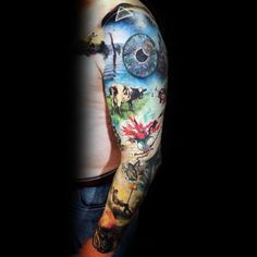 Best Pink Floyd Tattoo Designs Ever- Part 1 Tattoos) Hipsters, Imagenes Pink Floyd, Tattoo Under Chest, Brisbane Tattoo, Sketch Style, Tattoos Realistic, Music Tattoos, Soccer Tattoos, Quote Tattoos