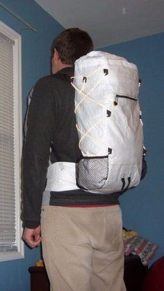 A DIY Tyvek backpack. Great craftsmanship!