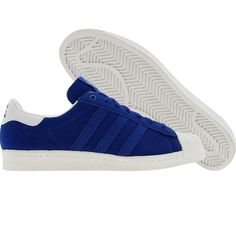Adidas Superstar 80s Collab (true blue / white / white) G14840 - $129.99 White White, Blue And White, Snicker Shoes, Sneaker Brands, Adidas Superstar, World Of Fashion, Adidas Shoes, Adidas Originals, Style Me
