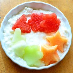 Power Breakfast : cottage cheese and melons