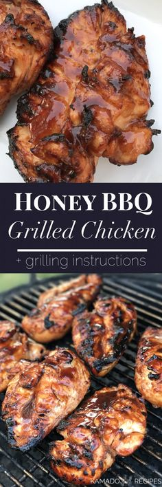 Honey BBQ Grilled Chicken – Kamado Grill Recipes – About Healthy Meals Kamado Grill, Bbq Grill, Barbecue, Kamado Joe, Grilled Steak Recipes, Grilled Chicken Recipes, Grilled Meat, Summer Grilling Recipes, Grilling Ideas