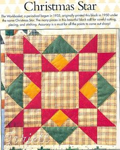 Christmas Star Quilt Block Quilt Scarf Quilt Patterns Templates | eBay