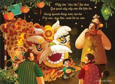 """Bộ tranh ngọt ngào """"Trung thu cha và con"""": Thương cha đừng để đó! - Ảnh 8. Chinese Festival, Mid Autumn Festival, Posters, Illustration, Anime, Crafts, Painting, Children Books, Chill"""