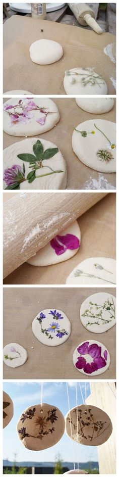 Blumenfreuden // Making beautiful things out of salt dough with children- Blumenfreuden // Schönes aus Salzteig mit Kindern basteln Simply immortalize flowers in salt dough: a nice and easy occupation for children. Diy Crafts For Kids, Arts And Crafts, Diy Pinterest, Salt Dough, Clay Crafts, Cardboard Crafts, Kids And Parenting, Diy Beauty, Beauty Care