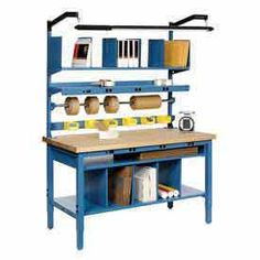 Packaging Workstations | Stationary | Heavy Duty Stationary Packaging Workbench - GlobalIndustrial.com