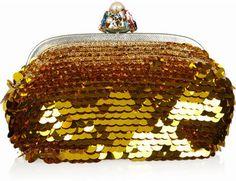 ShopStyle: Dolce & Gabbana Paillette-embellished crocheted frame clutch