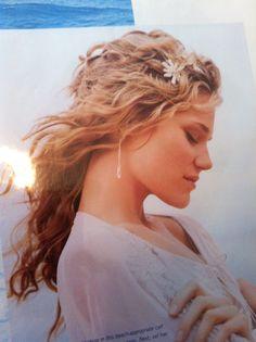 Great beach wedding hair!