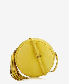 GiGi New York Zoey Crossbody Italian Linen Saddle Bags, Chloe, Footwear, Purses, Yellow, Stylish, Womens Fashion, York, Leather