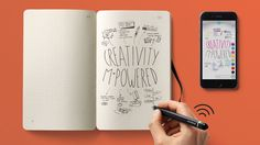 Moleskine's Smartpen Digitizes Your Notebooks as You're Writing In Them #Sketchnoting #DrawingAndTech