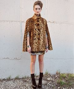 Two things I Love combined- faux leopard and capes.