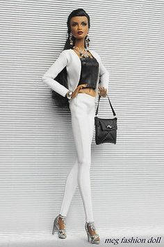 *Meg*OOAK outfit for Fashion Royalty /FR 12'/FR2/-Black & White- ...on Dominique