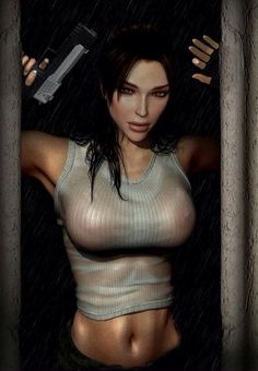 Lara Croft. Even sexy when its à drawing