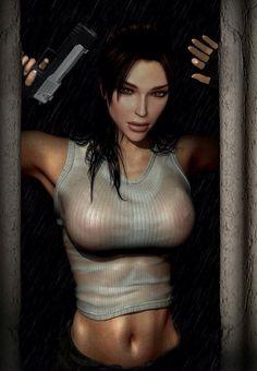 Lara Croft. Even sexy when its à drawing