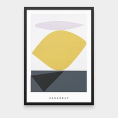 Vasarely: Souzon Framed Print | MoMAstore.org