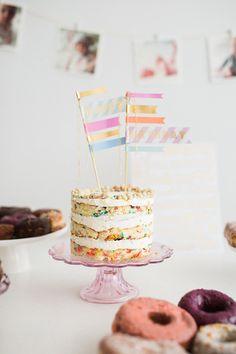 Donut party first birthday   Photos by Nicki Sebastian   100 Layer Cakelet