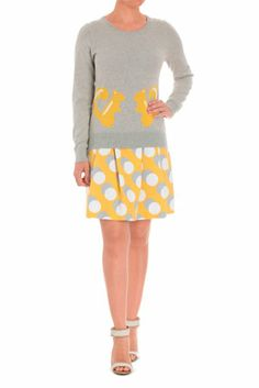Hi There From Karen Walker - Squirrel Knit Top Proportion tip for my shape - a boring top and a  cool bottom of the outfit.