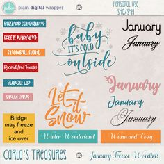 January Freeze Wordbits by Carla's Treasures Designs.
