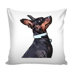 Expressed your passion with amazing Miniature Pinscher Dog Pillow Cover from TeeAmazing. Click the link below.  Find your new favorite bags and tote bags with unique designs. Please visit - https://teeamazing.co/ #TeeAmazing