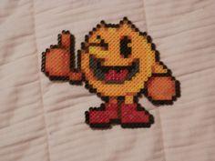 Super Smash Bros 4. Pac Man Bead Sprite by MechaPoltergeist