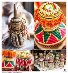 Authentic Ethiopian gift and food baskets presented to the wedding couple before the ceremony at this Authentic Portland Ethiopian Wedding
