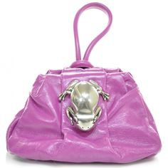 Oh, yeah... who doesn't need a pink MARC JACOBS Leather Rana bag- with a frog on it!