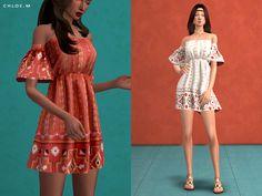 S chloem-boho style dress sims 4 cc boho style dres Maxis, Sims 4 Cc Eyes, Sims Cc, Boho Style Dresses, Fashion Dresses, Sims4 Clothes, Sims 4 Dresses, Sims 4 Characters, Sims 4 Cc Packs