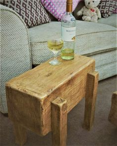 Mans Best Friend table #OakBeamEndTable #SideTable #FeatureTable #OakSideTable #OakCoffeeTables #OakBeamSideTable #OakFeatureTable #EndTable #OakEndTable #CoffeeTable Farmhouse Decor, Furniture Making, Solid Oak, Table, Table Furniture, Floating Mantle, Barn Beams, Wooden Fire Surrounds, End Tables