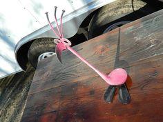 Pink Flamingo Golf Bird