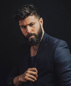 Beard Styles For Men, Hair And Beard Styles, Short Hair Styles, Mens Hairstyles With Beard, Haircuts For Men, Hairstyle Men, Style Hairstyle, Barba Sexy, Hair Men Style
