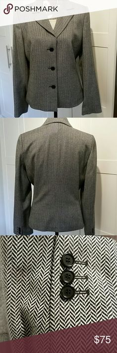 Ann Taylor  tweed Jacket Wool tweed jacket can be paired with a skirt or slacks. Can be worn on the weekend with jeans. Made in Hungary.  100%wool, lining is 100% acetate Ann Taylor Jackets & Coats Blazers