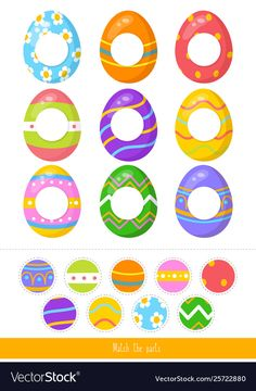 Match parts easter vector image on VectorStock Logic Games For Kids, Fun Worksheets For Kids, Easter Worksheets, Card Games For Kids, Craft Kits For Kids, Body Parts Preschool Activities, Preschool Learning Activities, Easter Activities, Cute Powerpoint Templates