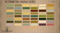 Emma Foster CGA&A: Victorian Era Colour Palette