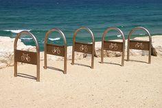 seaside bicycle racks