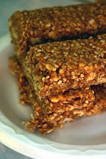 Peanut butter sesame seed granola bars. i made these and they are delicious and so easy to make
