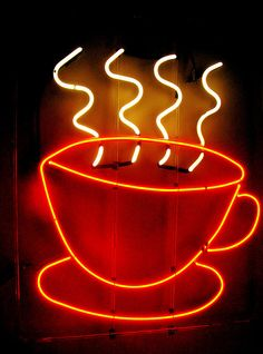 "NEON ""♨COFFEE"" SIGN ๑෴MustBaSign෴๑"