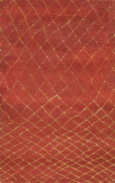 Rugsville Beni Ourain Moroccan Kamara Wool 17113 Rust Gold Rug