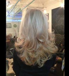 Beautiful bouncy blow dry by our wonderful Sarah Robinson