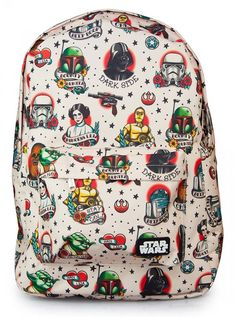 Omg. Star Wars Backpack. Per a delightful fellow pinner, I found out this is from Loungefly and there are matching purses and wallets, too. Gimme!